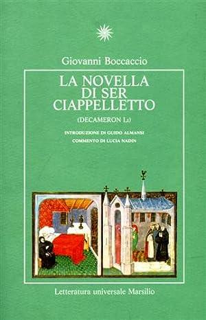 La novella di Ser Ciappelletto (Decameron I,1): Boccaccio,Giovanni.