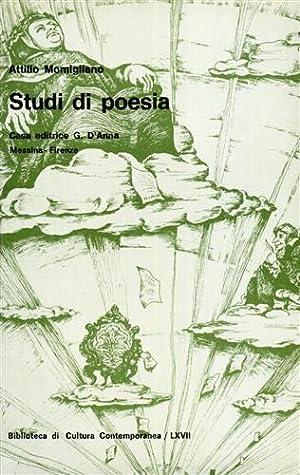 Studi di poesia.: Momigliano,Attilio.