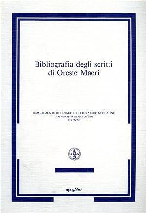 Bibliografia degli scritti di Oreste Macrì.: Chiappini,Gaetano.