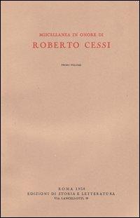 Miscellanea in onore di Roberto Cessi.: Sestan,E. Salvatorelli,L. Luzzatto,G.e