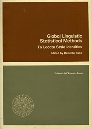 Global linguistic statistical methods, to locate style identities.: Busa,Roberto.