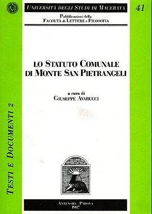 Lo Statuto Comunale di Monte San Pietrangeli.