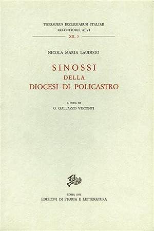 Sinossi della Diocesi di Policastro.: Laudisio,Nicola Maria.