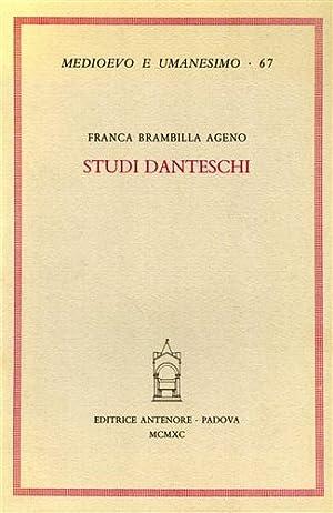 Studi Danteschi.: Brambilla Ageno,Franca.
