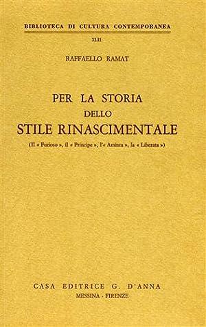 """""""Per la storia dello stile rinascimentale. (Il """"Furioso"""", il """"Principe"""", l..."""