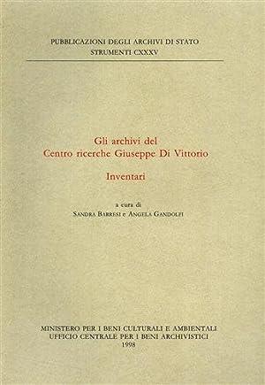 Gli Archivi del Centro Ricerche Giuseppe Di Vittorio. Inventari.: --