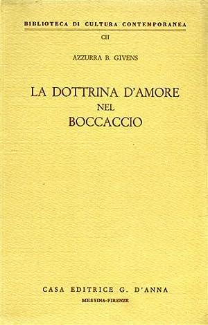 La dottrina d'amore nel Boccaccio.: Givens,Azzurra B.