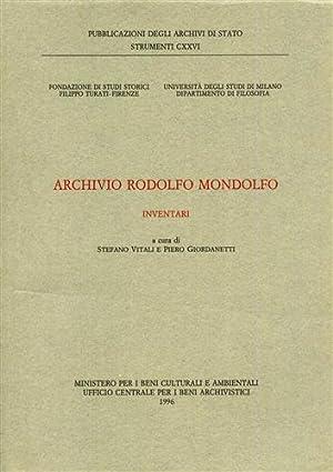 Archivio Rodolfo Mondolfo. Inventari.: --