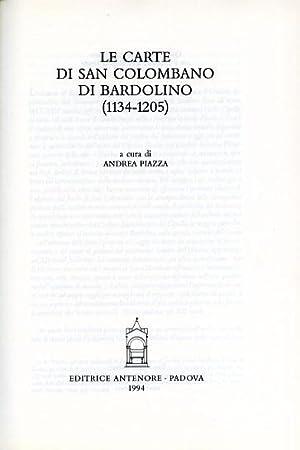 Le carte di San Colombano di Bardolino (1134-1205).