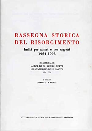 Rassegna Storica del Risorgimento. Indici per autori: La Motta,Mirella (a