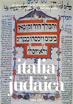 Italia Judaica.: Atti del I