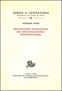 Studien zur Naturphilosophie der Spatscholastik. Vol.IV: Metaphysische hintergruende der ...