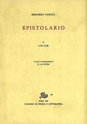 Epistolario. Vol.V: 1757-1758.: Tanucci,Bernardo.