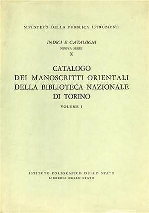 Catalogo dei manoscritti orientali della Biblioteca Nazionale di Torino. Vol.I.: Noja,Sergio.