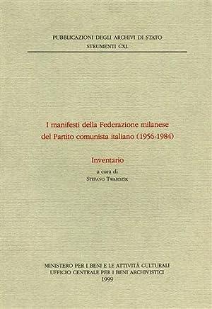 I manifesti della Federazione milanese del Partito Comunista Italiano 1956-1984. Inventario.: --
