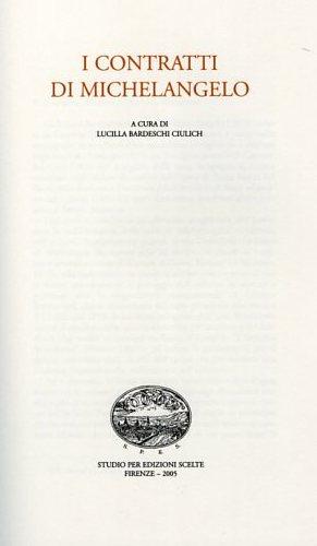Contratti.: Buonarroti,Michelangelo.