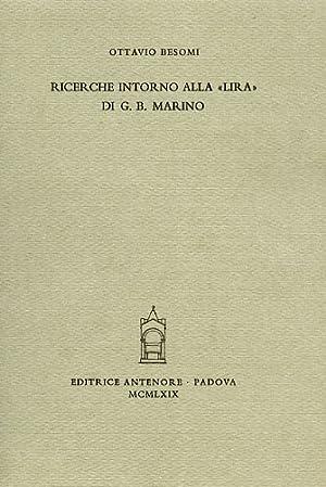 """""""Ricerche intorno alla """"Lira"""" di G.B.Marino. """": Besomi,Ottavio."""