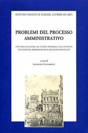 Problemi del processo amministrativo.: Atti dell'Incontro di Studio: