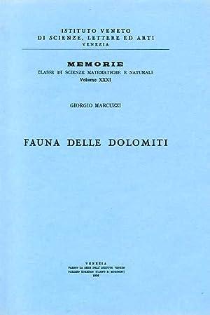 Fauna delle Dolomiti. La memoria sulla fauna: Marcuzzi,Giorgio.