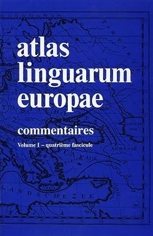 Atlas linguarum Europae. (ALE). Vol.I: Commentaires, quatrième fascicule: Cartes.: Alinei,...
