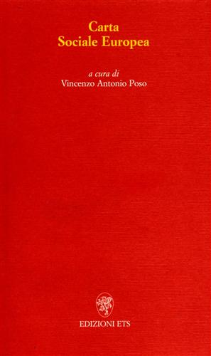 Carta Sociale Europea.: Poso,Vincenzo Antonio.