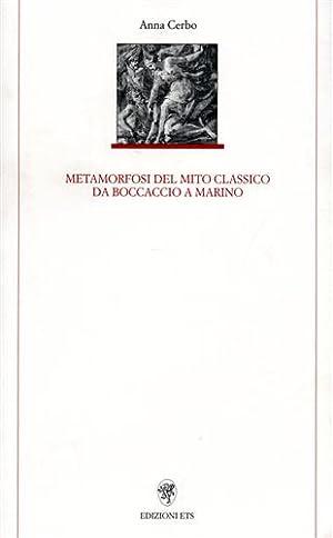 Metamorfosi del mito classico da Boccaccio a: Cerbo,Anna.