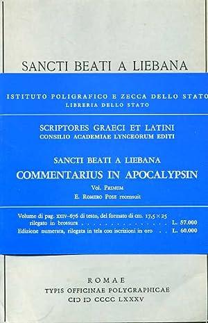 Commentarius in Apocalypsin. Vol.I.: Sancti Beati a Liebana.