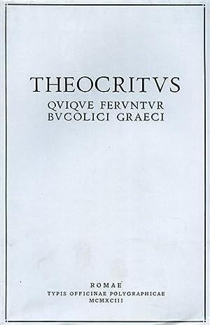 Quique feruntur bucolici graeci.: Theocritus.