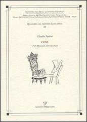 Cose. Una piccola antologia.: Paolini,Claudio.