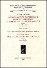 Vallisneri Antonio, Miglioramenti e correzioni d'alcune sperienze: Vallisneri,Antonio - Cogrossi,Carlo
