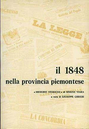 Il 1848 nella provincia piemontese. Memorie storiche.: Viara,Simone.