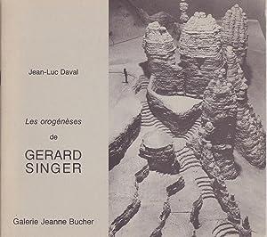 Les orogénèses de Gérard Singer