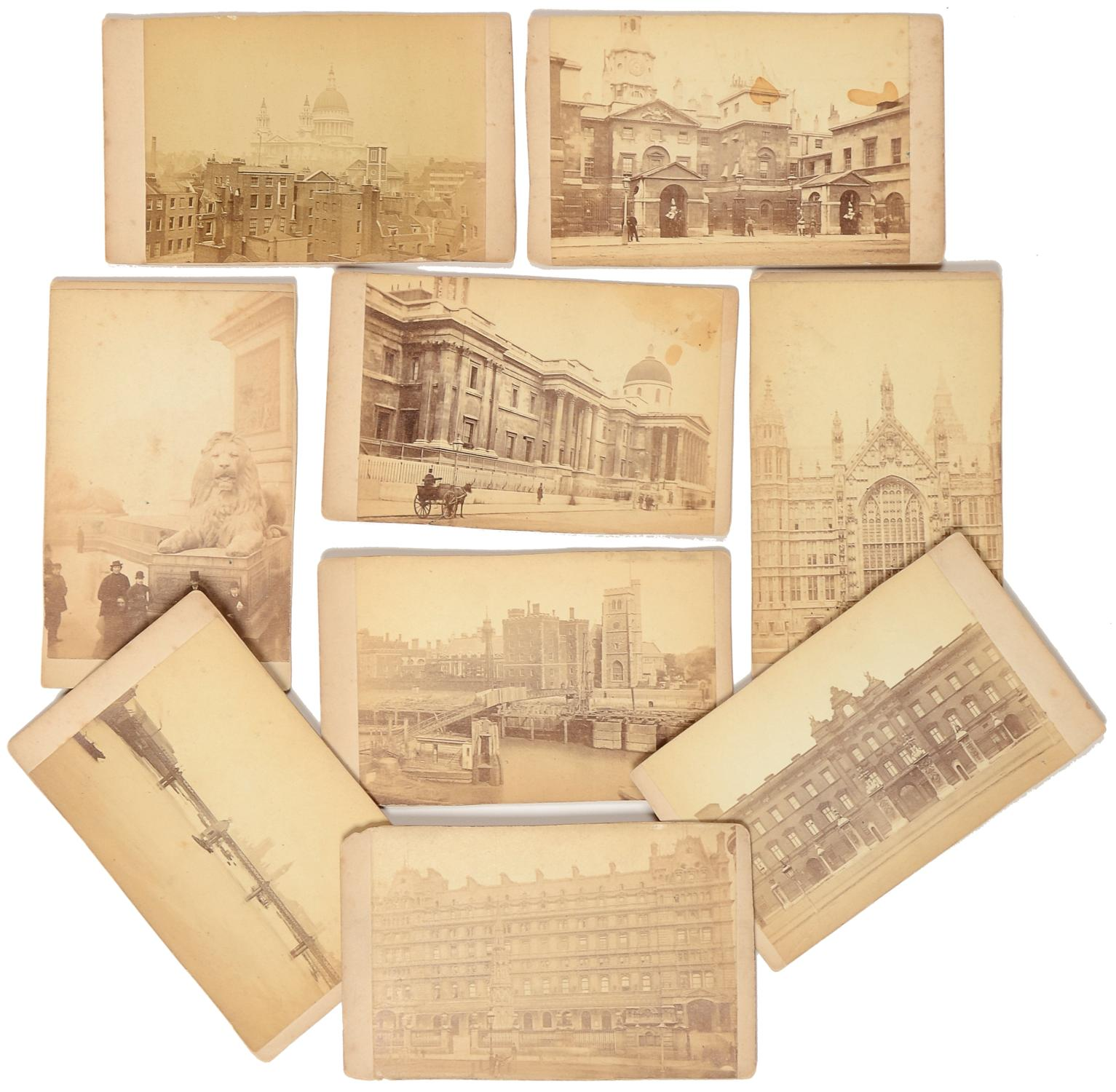 Nine Cartes De Visite Of Views In London Poulton Samuel E