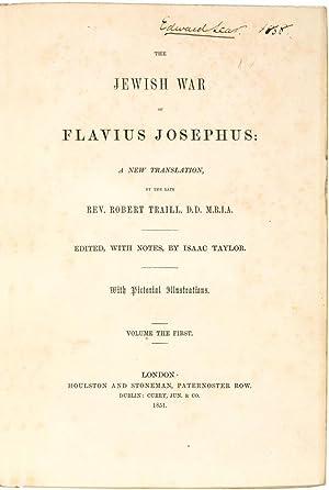 The Jewish War of Flavius Josephus: a: Lear, Edward.] Flavius