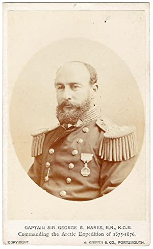 A Carte De Visite Titled Captain G S Nares RN Commanding The Arctic
