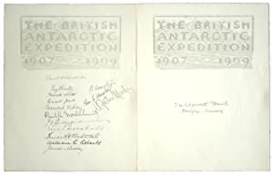 The Heart of the Antarctic.] Two sheets: Shackleton, Ernest H.]