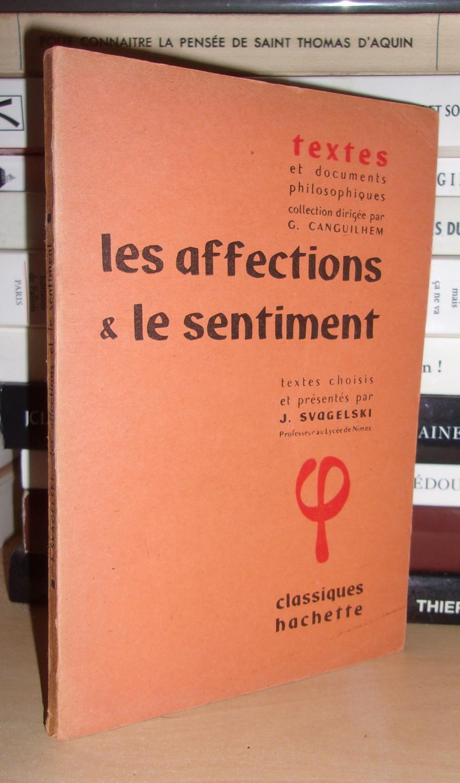 Les Affections Et Le Sentiment Textes