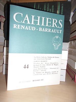 Cahiers Renaud-Barrault - N°44 - Octobre 1963: Collectif