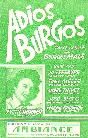 Adios Burgos : Paso-doble De Georges Malé: Collectif (Georges Malé