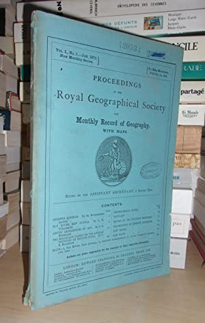 GEOGRAPHICAL SOCIETY & MONTHLY RECORD OF GEOGRAPHY : Vol. I, no. 1 - Jan. 1879 : Edited By the As...