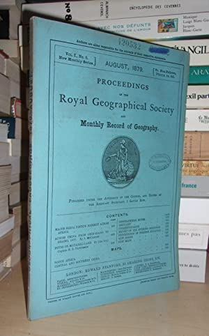 GEOGRAPHICAL SOCIETY & MONTHLY RECORD OF GEOGRAPHY : Vol. I, no. 8 - August 1879 : Edited By the ...