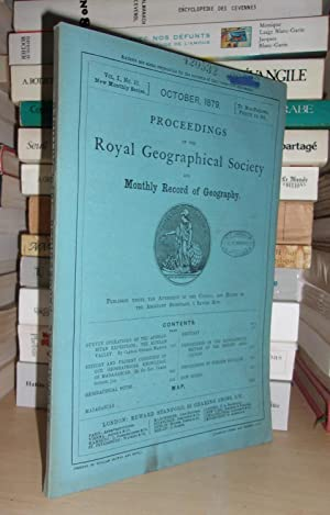 GEOGRAPHICAL SOCIETY & MONTHLY RECORD OF GEOGRAPHY : Vol. I, no. 10 - October 1879 : Edited By th...