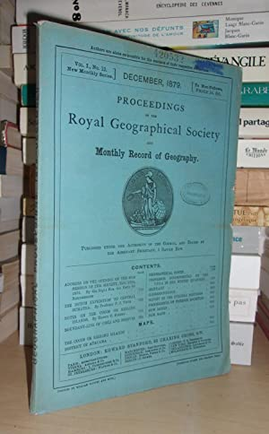 GEOGRAPHICAL SOCIETY & MONTHLY RECORD OF GEOGRAPHY : Vol. I, no. 12 - December 1879 : Edited By t...