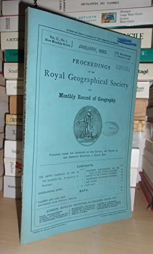 GEOGRAPHICAL SOCIETY & MONTHLY RECORD OF GEOGRAPHY : Vol. II, no. 1 - January 1880 : Edited By th...