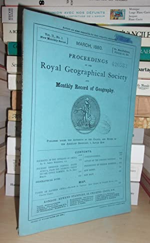 GEOGRAPHICAL SOCIETY & MONTHLY RECORD OF GEOGRAPHY : Vol. II, no. 3 - March 1880 : Edited By the ...