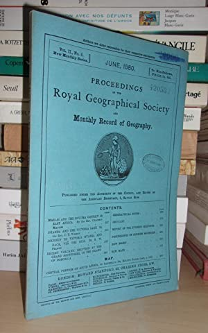 GEOGRAPHICAL SOCIETY & MONTHLY RECORD OF GEOGRAPHY : Vol. II, no. 6 - June 1880 : Edited By the A...