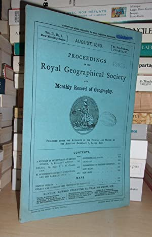 GEOGRAPHICAL SOCIETY & MONTHLY RECORD OF GEOGRAPHY : Vol. II, no. 8 - August 1880 : Edited By the...