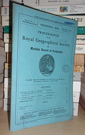 GEOGRAPHICAL SOCIETY & MONTHLY RECORD OF GEOGRAPHY : Vol. II, no. 11 - November 1880 : Edited By ...