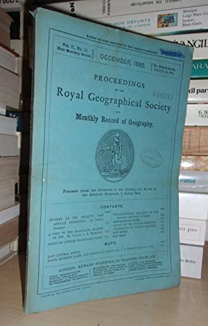 GEOGRAPHICAL SOCIETY & MONTHLY RECORD OF GEOGRAPHY : Vol. II, no. 12 - December 1880 : Edited By ...