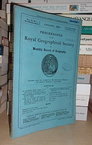 GEOGRAPHICAL SOCIETY & MONTHLY RECORD OF GEOGRAPHY : Vol. III, no. 1 - January 1881 : Edited By t...